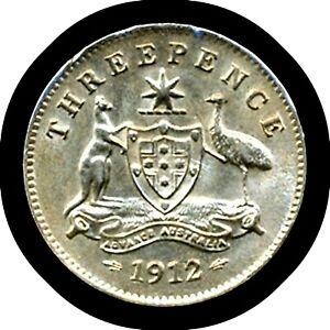 1912 Threepence (Choice Grade)