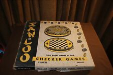 Vintage 1953 San Loo Chinese Checker Game Original Box Metal Board Marbles #122