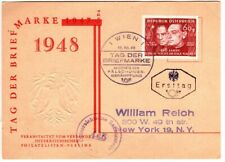1948 Austria Cover Postcard with Censor Mark - Scarce Stamp on Cover