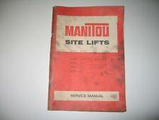 1977 MANITOU MB20C / 25C / 30C ROUGH TERRAIN FORKLIFT INSTRUCTION MANUAL