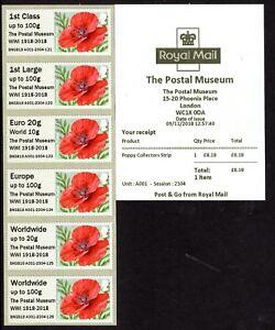 *NEW* Postal Museum * POPPY WW1 * Winter Greenery * Mail By Bike * Underground *