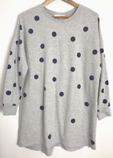 Peter Alexander Womens Grey with Purple Polka Dot Long Sleeve Nightie Size M