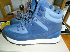 MENS LACOSTE URBAN LEATHER BOOTS SIZE UK 10 NWB