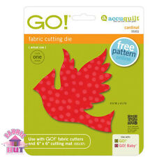 Accuquilt GO! Fabric Cutter Die Cardinal Bird Quilting Sewing 55351