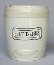 Rare Large Antique Vintage Ironstone Rillettes de Tours Crock from France