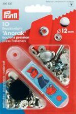 Prym 10 Druckknöpfe 12 mm silberfarbig glatt 390330