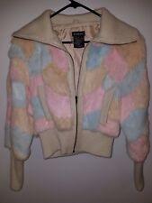 Bebe authentical original rabbit fur coat used good condition