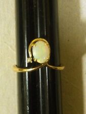 LADIES ESTATE 14k Gold Opal Diamond Ring 5.75