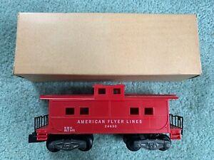 American Flyer #24630 AFL red bobtail caboose w/RARE original box solid coupler