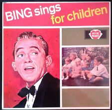 BING CROSBY  - Sings For Children - UK LP Ace Of Hearts - Rare Promo - Lullaby