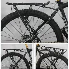 """New BIKE BICYCLE REAR PANNIER RACK 26 28"""" 700C WHEELS ADJUSTABLE SPRING FLAP UK"""