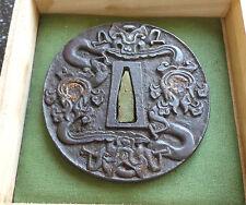 Antique Original Japanese Nanban TSUBA, Mid Edo Period