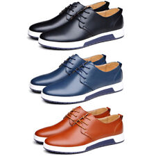 British Men's Dress Casual  Lace-up Oxford Shoes Leather Business Party Loafers