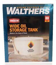 HO Scale Walthers Cornerstone 933-3167 Wide Oil Storage Tank w/Berm Kit