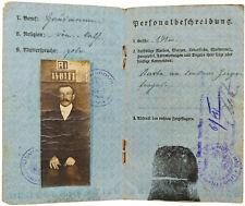 1918 Riga Armeepass - WWI Passport - GERMAN OCCUPIED BALTICS - Ration Stamps