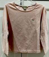 Burberry Girl's Pink L/S Top EUC (worn 1X) - Size 5Y