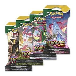 Pokémon - Evolving Skies / SWSH 7 - 1 x Sleeved Booster Pack ENG - NEU & SEALED