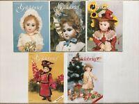 5 - GILDEBRIEF Magazines - 1998 - Vol 15, Dollmaking w/Pattern Supplements