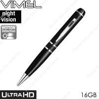 High Quality Pen Camera 16 GB Ultra XHD Video 2K 1296P Body Cam NO SPY Hidden