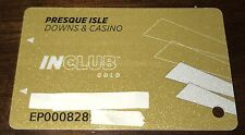 PRESQUE ISLE DOWNS CASINO IN CLUB GOLD PLAYERS SLOT CARD HORSE RACE TRACK