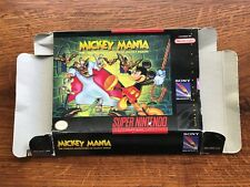 Mickey Mania Mouse Timeless Adventures SNES Super Nintendo Empty Box Only
