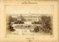 France, Le Havre, L'hôtel de Ville Vintage Albumen Print Tirage albuminé