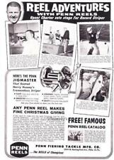 1964 Vintage ad Penn Fishing reels 67 lb Striped Bass Stoughton Mississippi