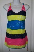 Nwot Venus Tie Dye One Piece Swimsuit Swimwear Size 8 Pink Yellow Blue Green