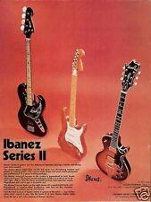1975 Ibanez Series II Guitars & Basses Vintage Ad