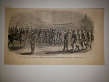 Fort Wagner Civil War Grand Guard African American Soliders 1863 Sketch Print