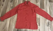 faconnable Shirt 100% Linen Size Small