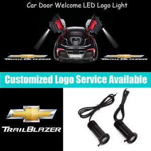 2x TRAIL BLAZER Logo Car Door LED Light Projector for Chevrolet Trailblazer EXT