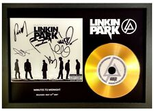 LINKIN PARK - MINUTES TO MIDNIGHT - SIGNED GOLD DISC DISPLAY