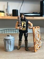 2001 WWE Mick Foley 1 of 3000 Limited Edition Barbed Wire & Trash Can Figure Set