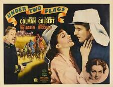 UNDER TWO FLAGS Movie POSTER 22x28 Half Sheet