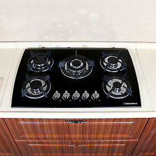 30inch 5 Burner 3.3Kw Gas Cooktop Kitchen Lpg/Ng Glass Built-in Gas Hob Cooker
