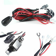 Universal Relay Harness Wire Kit + LED ON/OFF Switch For Fog Lights HID Worklamp