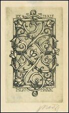 Marik Jaroslav 1937 Exlibris L1 Bookplate Flowers Blumen Kwiaty 1870