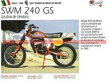 SWM GS 240 TF1 1980 Fiche Moto 000241