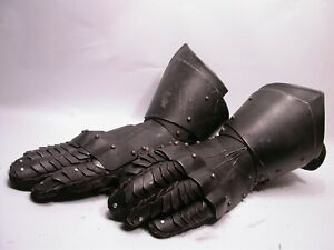 Heavy Steel Plate Medieval Knight's Gauntlets