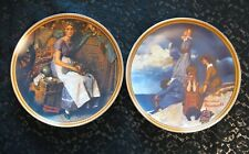11 Rediscovered Women Collector Plates Norman Rockwell/Edwin Knowles
