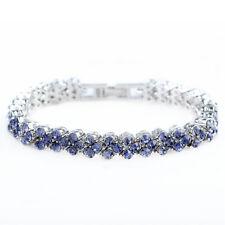 Lady Schmuck Jewelry Purple Amethyst 18K White Gold Plated Tennis Bracelet