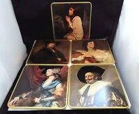 Vintage Coasters Boxed Set of Five Famous Painting Placemats Win-El-Ware England
