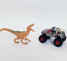 Jurassic Park Velociraptor + Jeep #29 - Kids Figures Toys Bundle - Free Postage