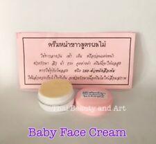THAI BABY FACE Whitening Cream Fruit Extract Melasma Dark Spots Night Cream 5g.