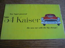 Kaiser AUTO BROCHURE a colori 1954 (include Darrin) USA
