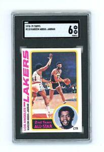 1978 79 Topps 110 Kareem Abdul Jabbar Lakers Hof Los Angeles Card Sgc 6 Ex - Nm