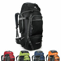 60L Men women durable Outdoor Sport Travel Hiking Camping Backpack great nylon
