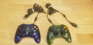 OEM Microsoft Original XBOX Controller S Green & Blue  *TESTED*