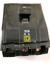 Square D 30 Amp QO 3 Pole Plug In Circuit Breaker 120/240V used